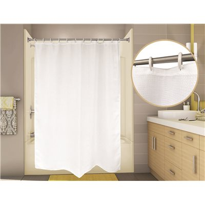 PREMIER® WAFFLE SHOWER CURTAIN, 6 FT. X 6 FT., WHITE