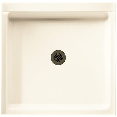 SWAN® SOLID SURFACE SINGLE THRESHOLD SHOWER FLOOR, CENTER DRAIN, 36 IN. X