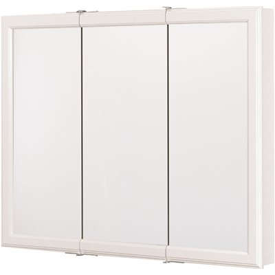 RSI HOME PRODUCTS MEDICINE CABINET, TRIVIEW, WHITE, 36 IN.