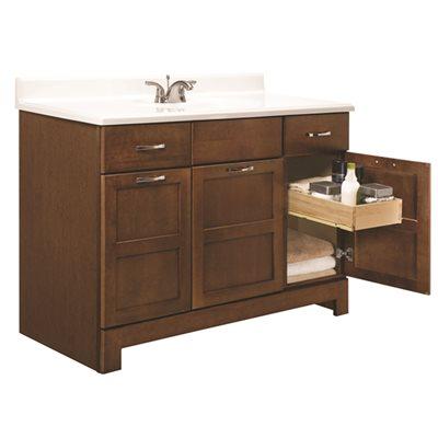 Glacier Bay Part Caco48d Casual Bathroom Vanity Cabinet Cognac