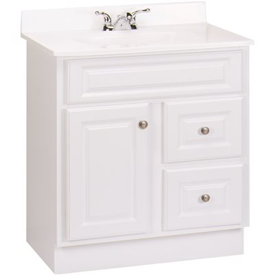 Gentil HAMPTON BATHROOM VANITY CABINET, WHITE, 30X21 IN.