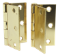 Anvil Mark BUTT HINGES, SQUARE CORNER, 3 IN., BRIGHT BRASS, 2 PER PACK