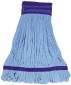 IMPACT PRODUCTS Microfiber String Mop Head Extra Large Canvas Headband Tube in Blue