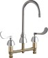 Chicago Faucets CHICAGO CONCEALED HOT AND COLD WATER SINK FAUCET LEAD FREE, WRIST BLADE HANDLES