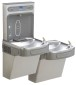 ELKAY WATER COOLER BOTTLE FILLING STATION, BI-LEVEL, LT GRAY, REF