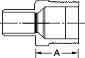 Mueller Industries COPPER MALE ADAPTER C X MIP 1  IN.  X 1  IN.
